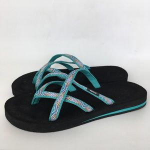 Teva Olowahu Flip Flop Sandals Size 8